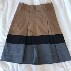NWT The Limited Pleated High Waisted Skirt